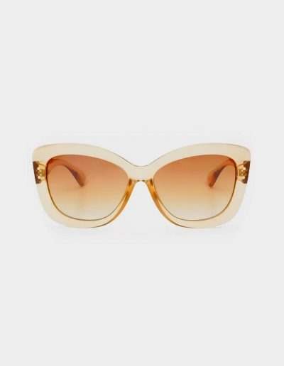 Tan sunglasses with tan lenses