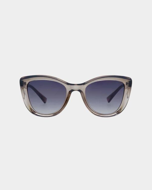 Grey framed sunglasses with grey lenses
