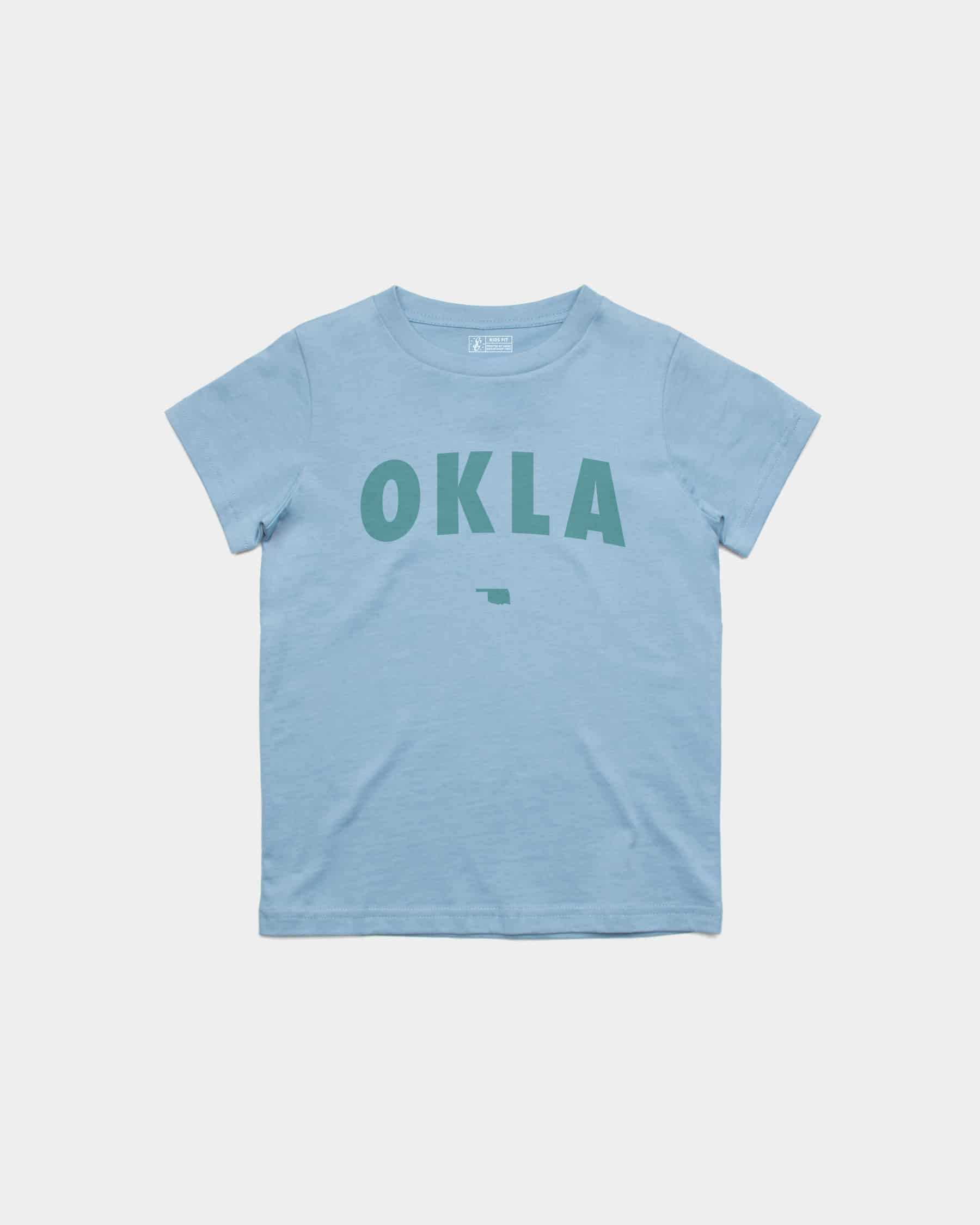 OKLA Kids Tee Carolina Blue