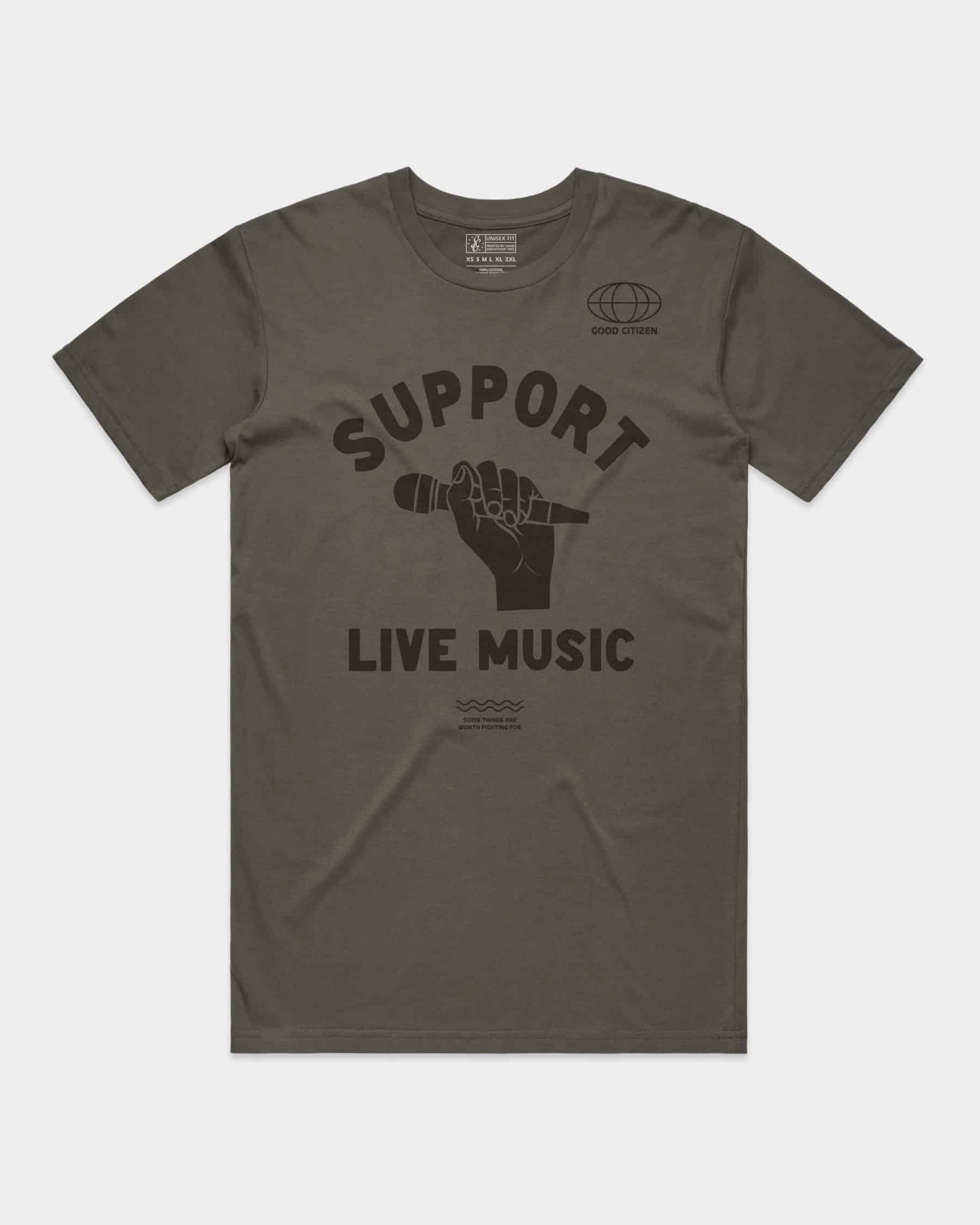 SOLIDARITY SERIES No. 4: Support Live Music Tee