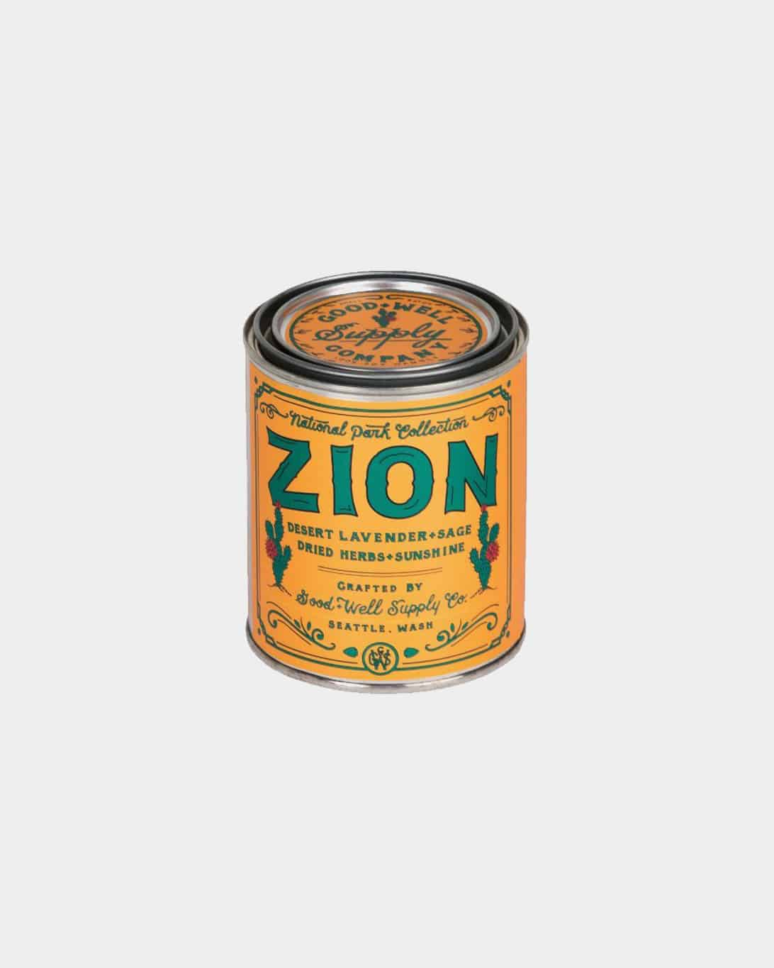 Zion Candle 1/2 Pint Soy Candle- Desert Lavender Sage + Dried Herbs