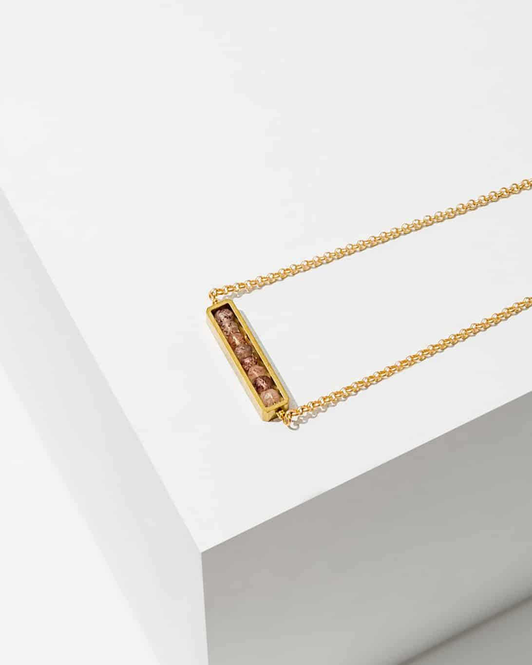 Abacus Necklace Pink Sapphire