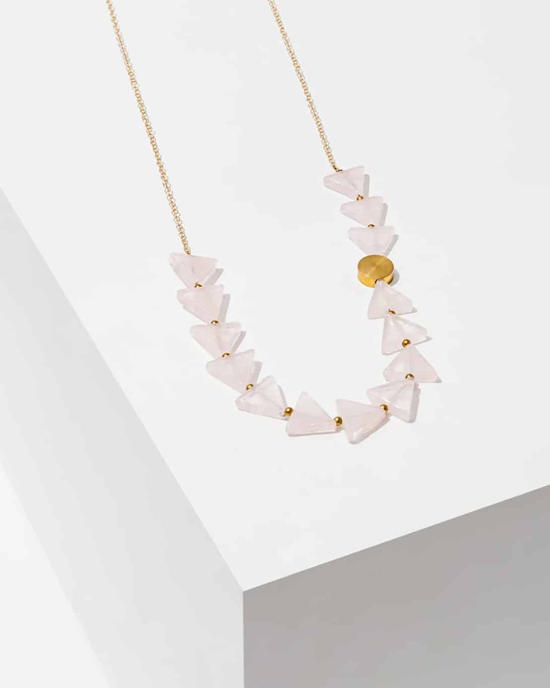 Aim Necklace Rose Quartz