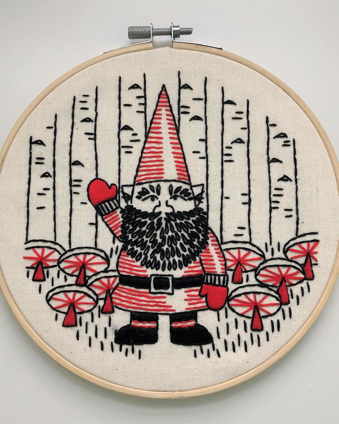 Friendly Forest Gnome – DIY Embroidery Kit