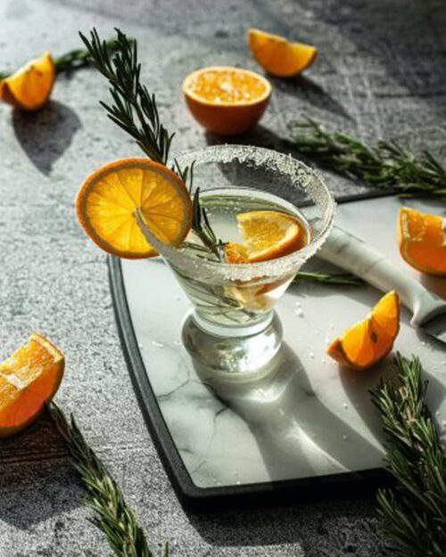 Dehydrated Orange Wheel Garnish