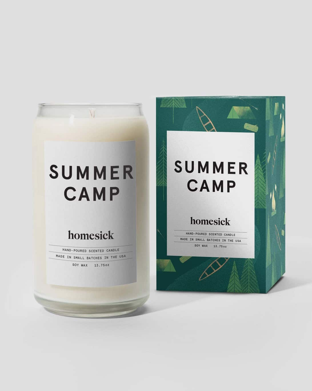 A photo of the Homesick Summer Camp Candle