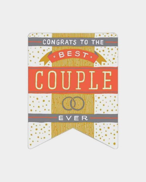 Best Couple Ever Banner Card