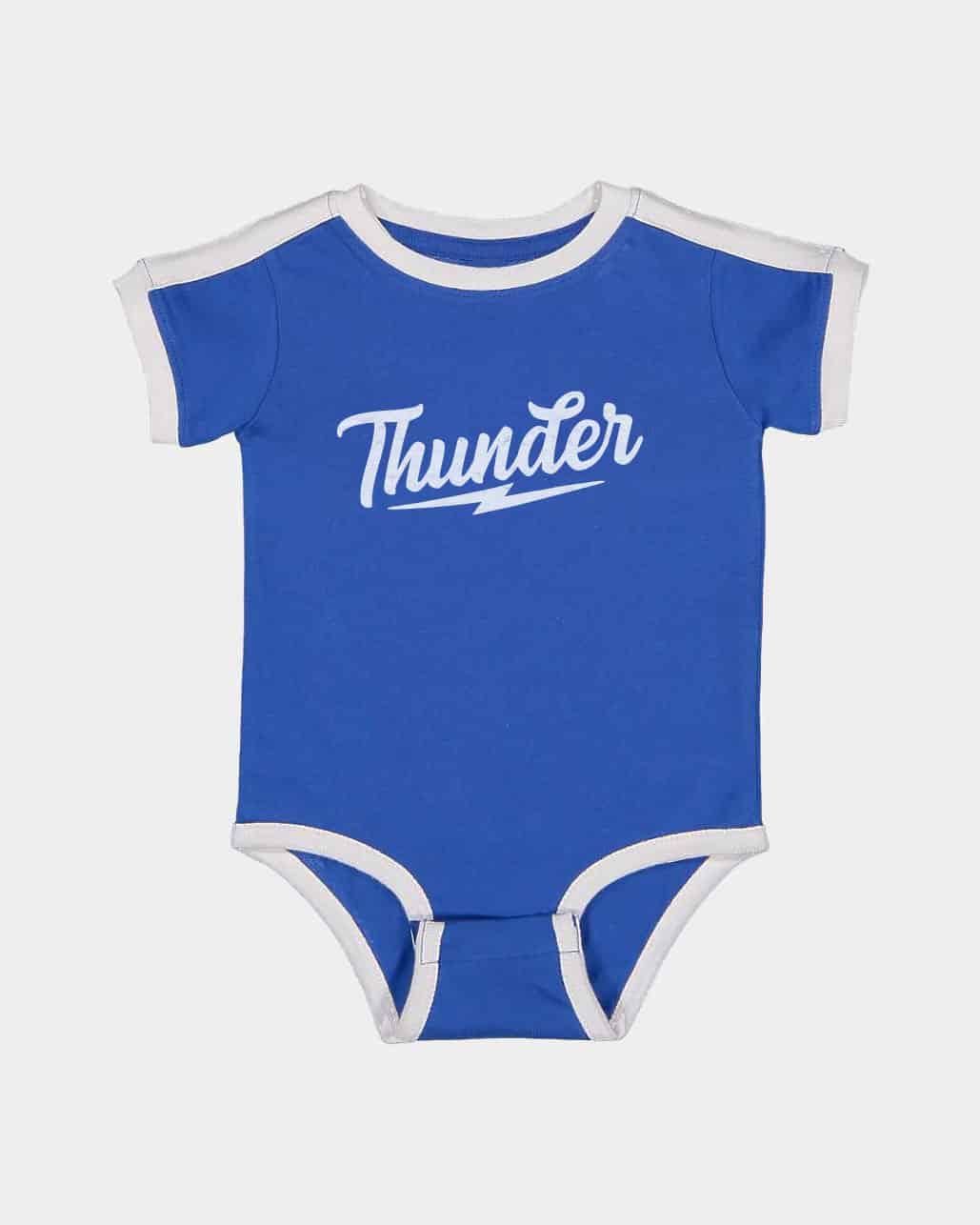 Speed of Thunder Kids Retro Ringer Onesie