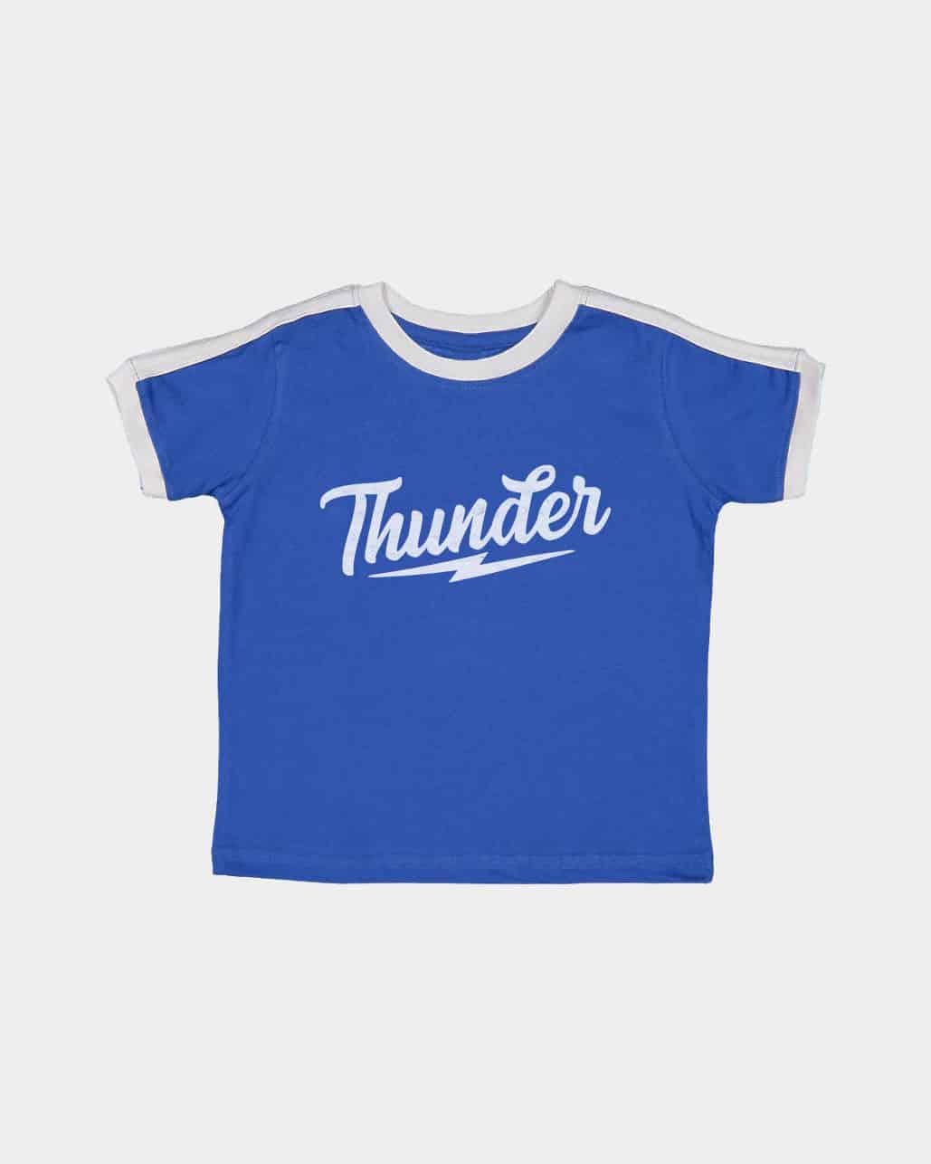 Speed of Thunder Kids Retro Ringer Tee