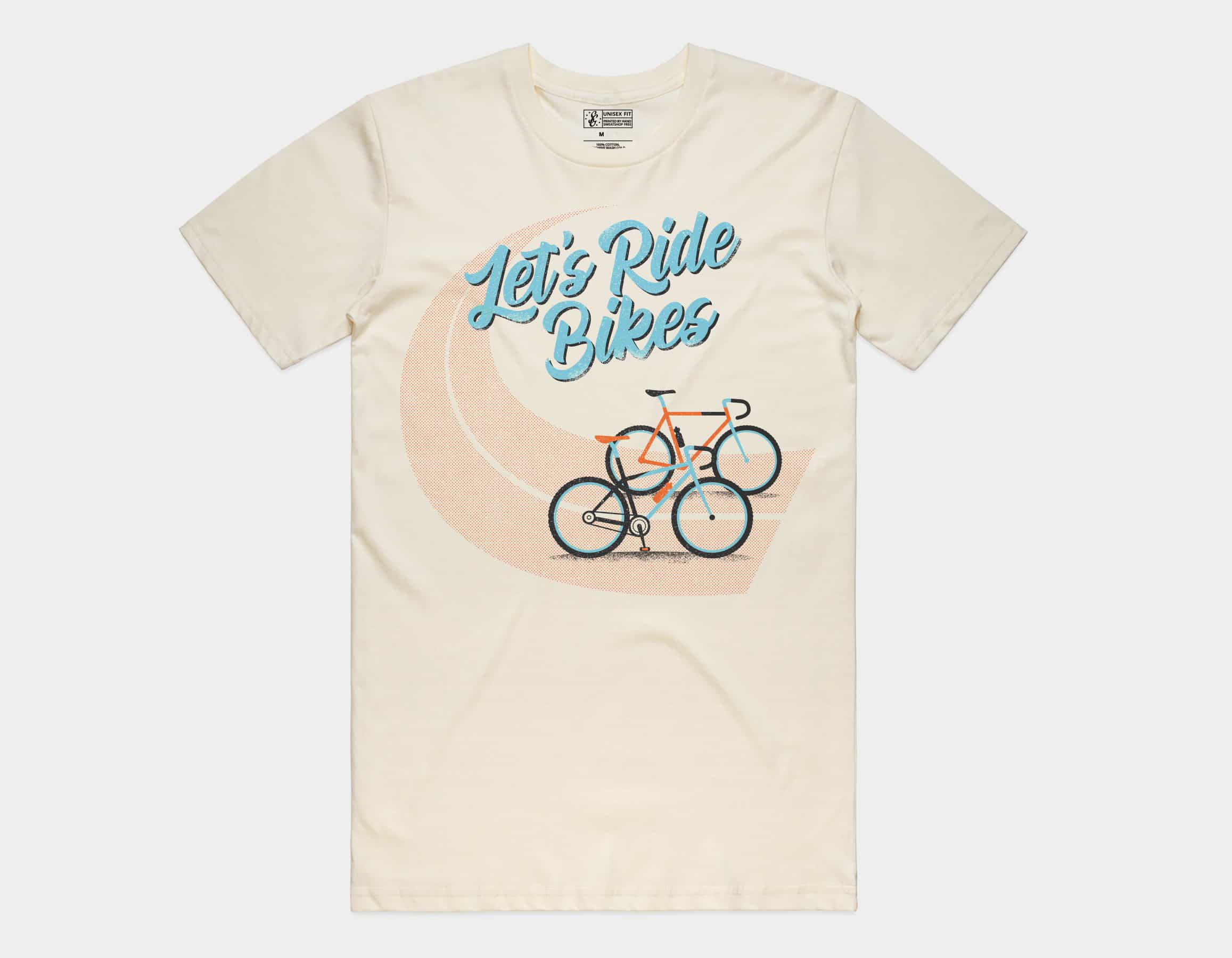 Let's Ride Bikes Tee Natural