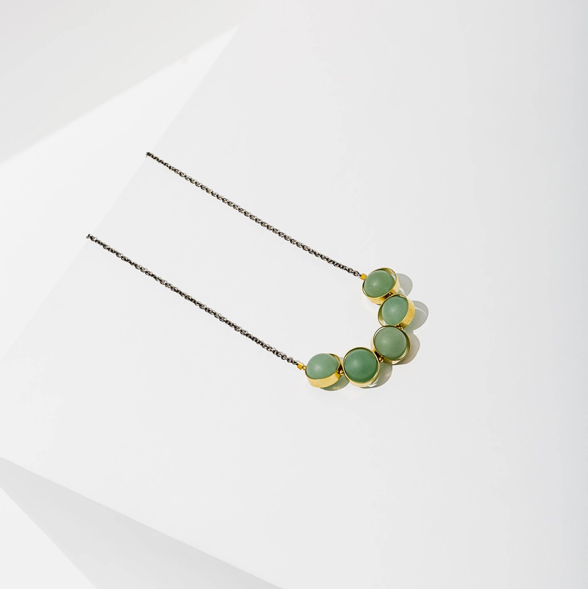 Alignment Necklace Green Adventurine