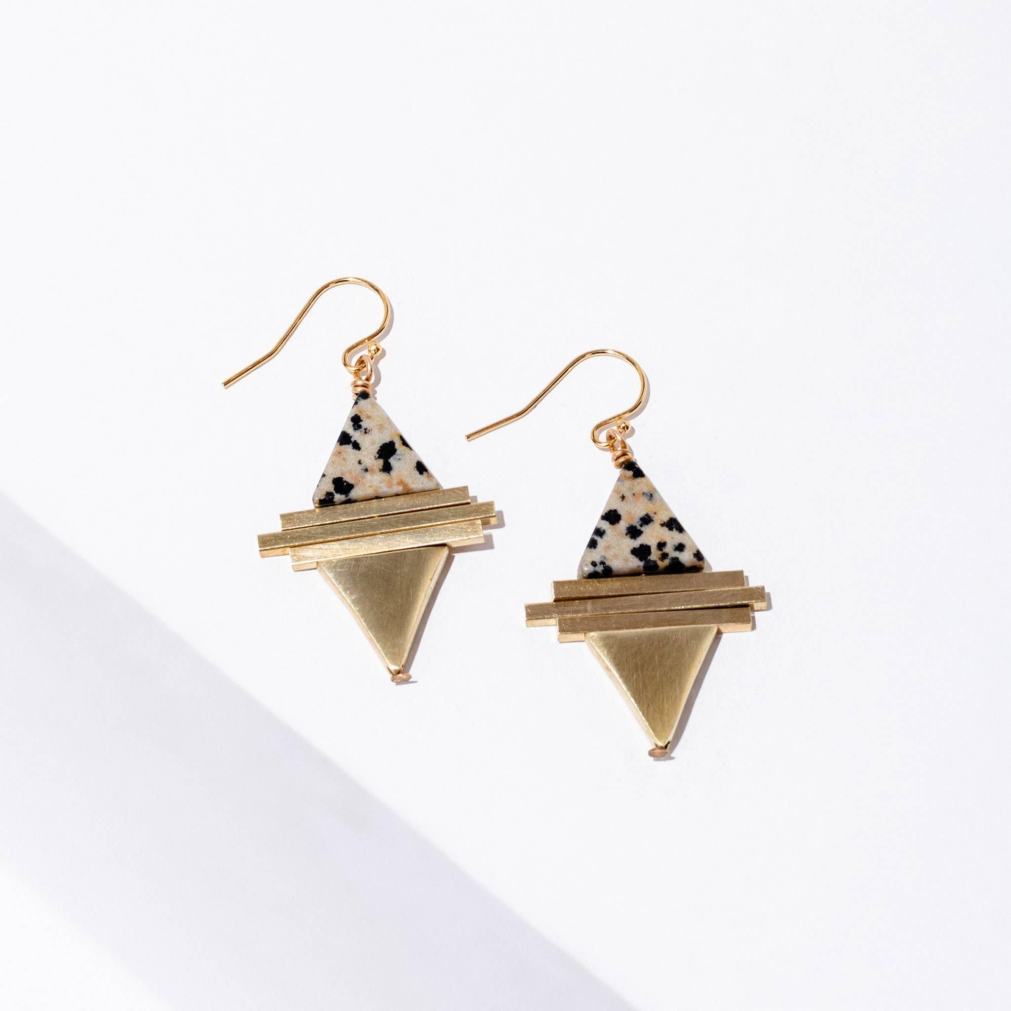 Protos Earrings Dalmatian Jasper