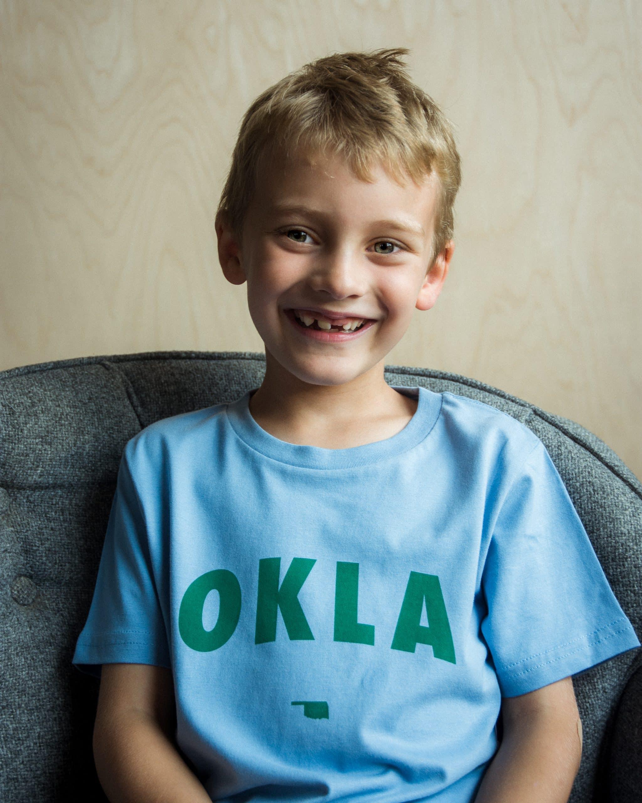 OKLA Kids Tee Carolina Blue