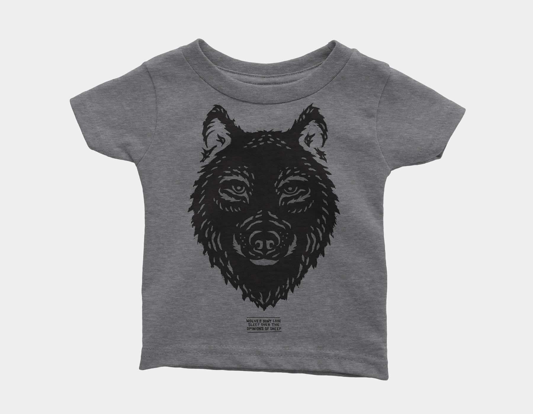 Wolf Kids Tee Grey Triblend