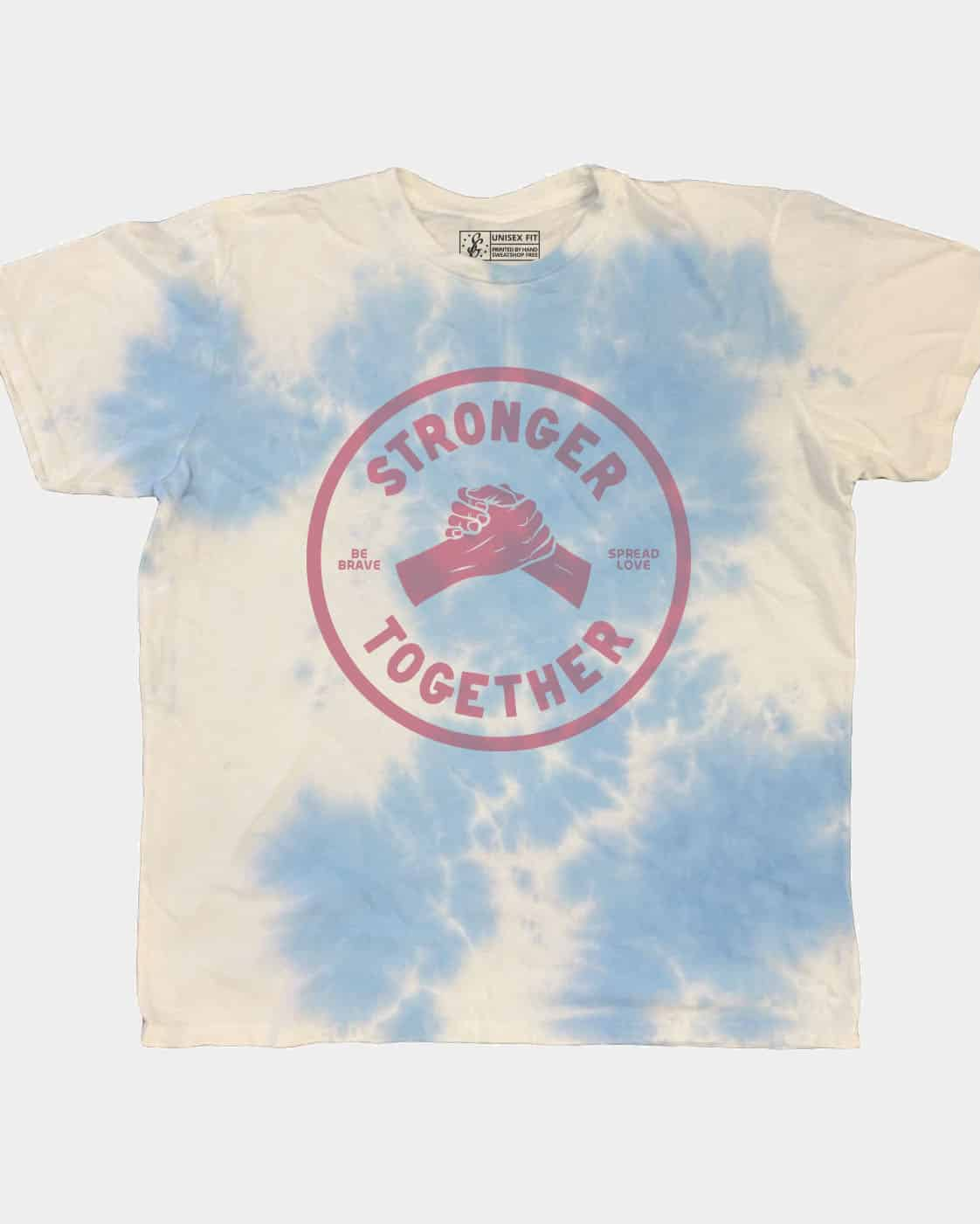 SOLIDARITY SERIES No. 1: Stronger Together Cloud Tie Dye