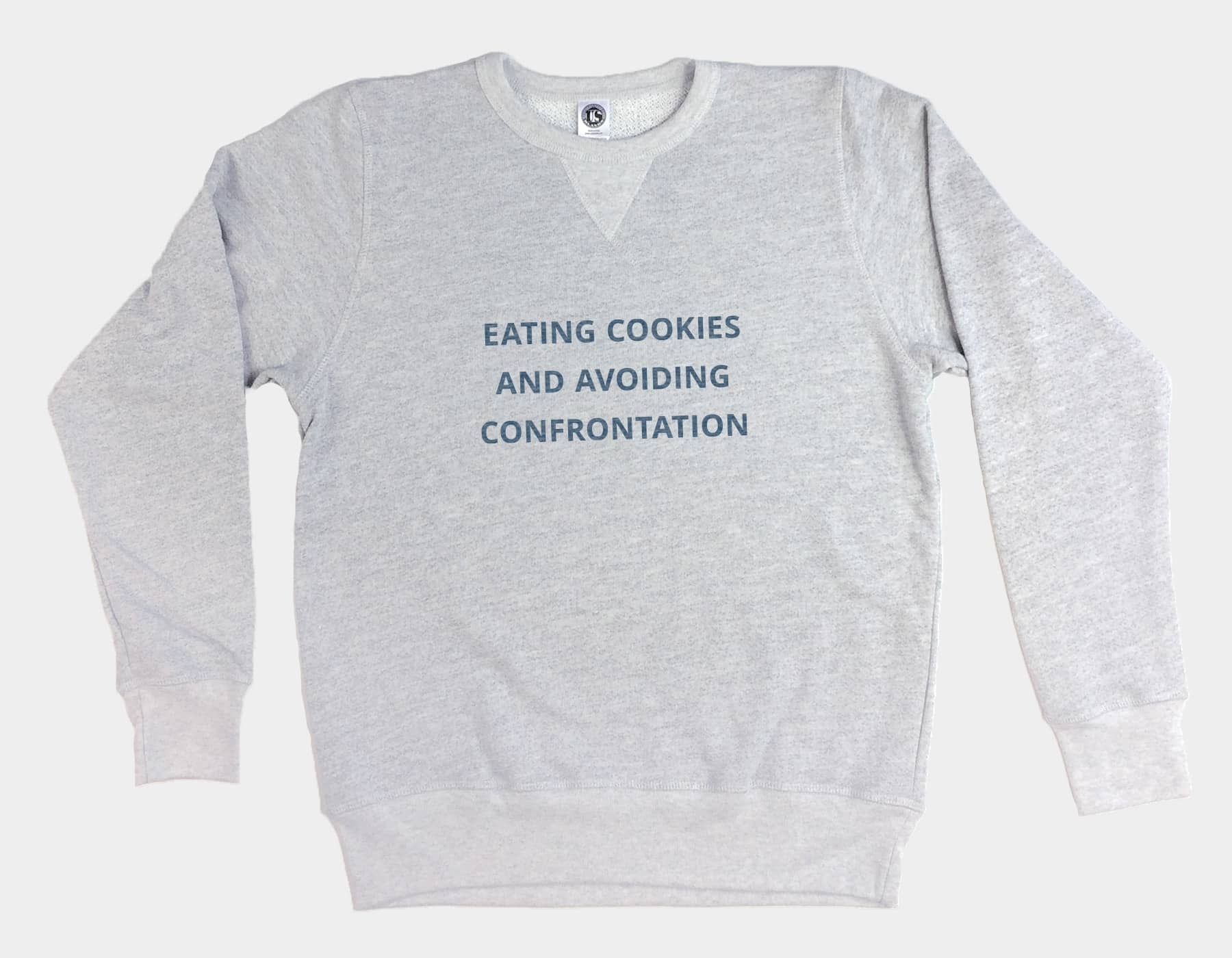 Cookies & Confrontation Pullover Sweatshirt Heather Grey