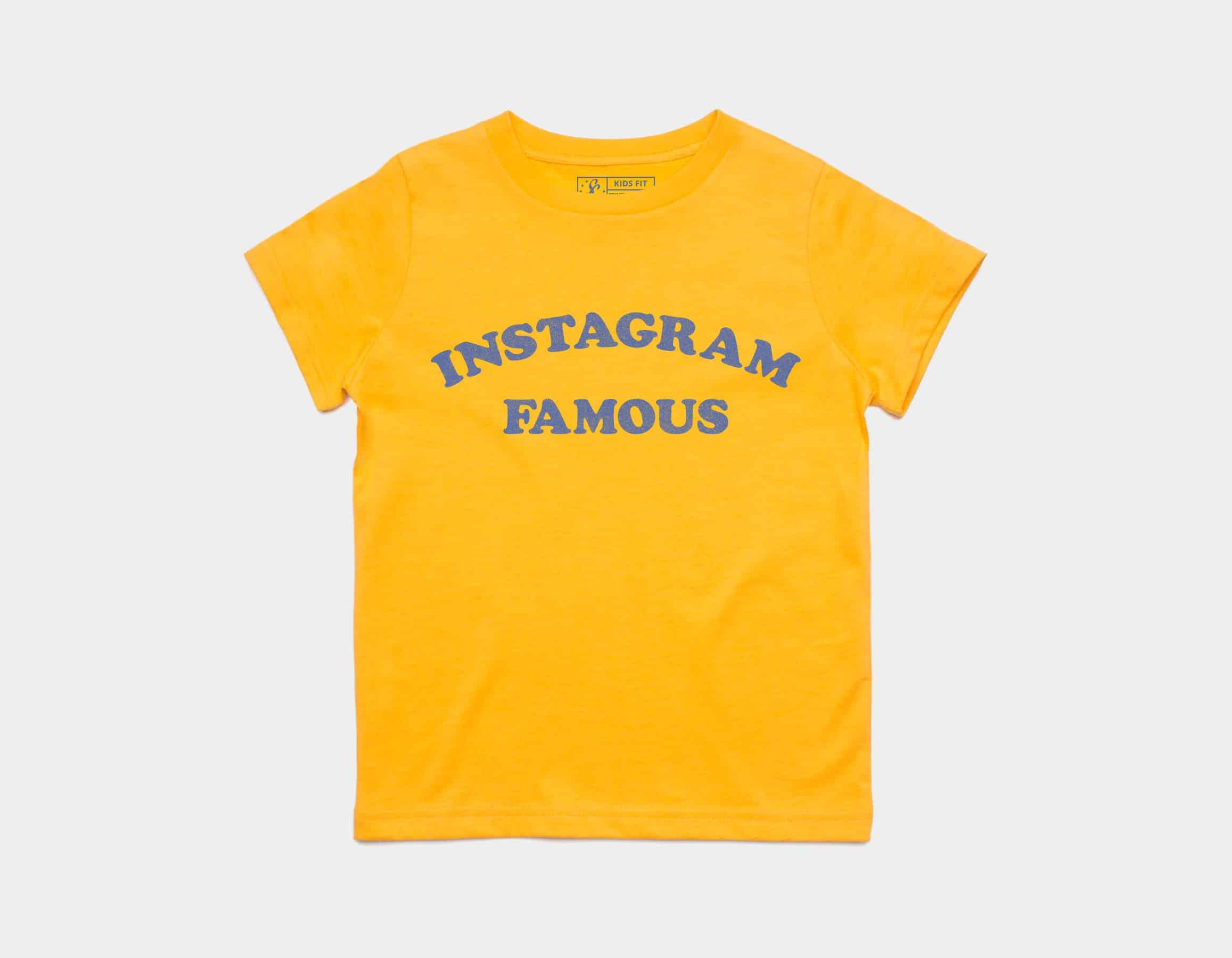 Instagram Famous Kids Tee Gold