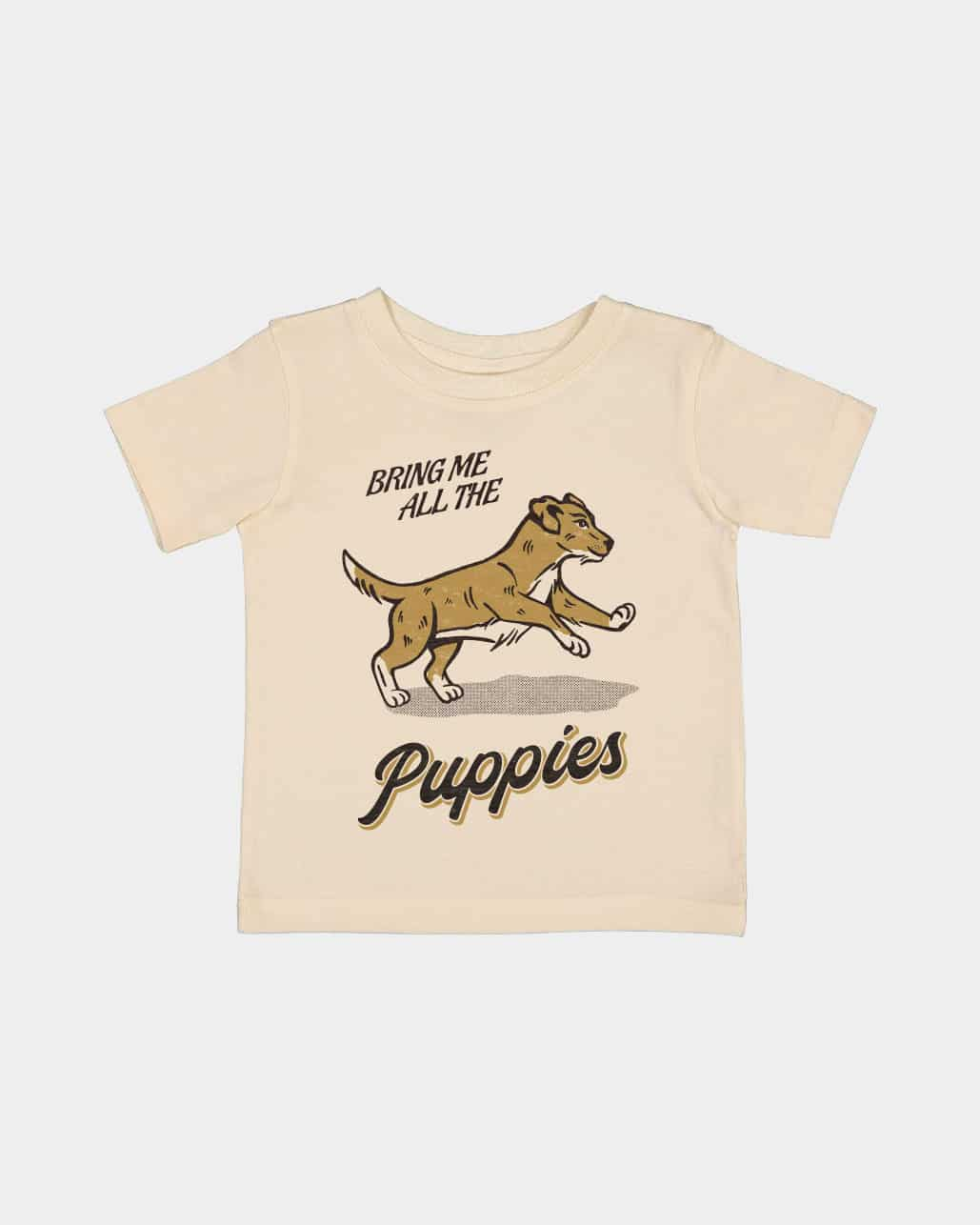 Bring Me Puppies Kids Tee Natural