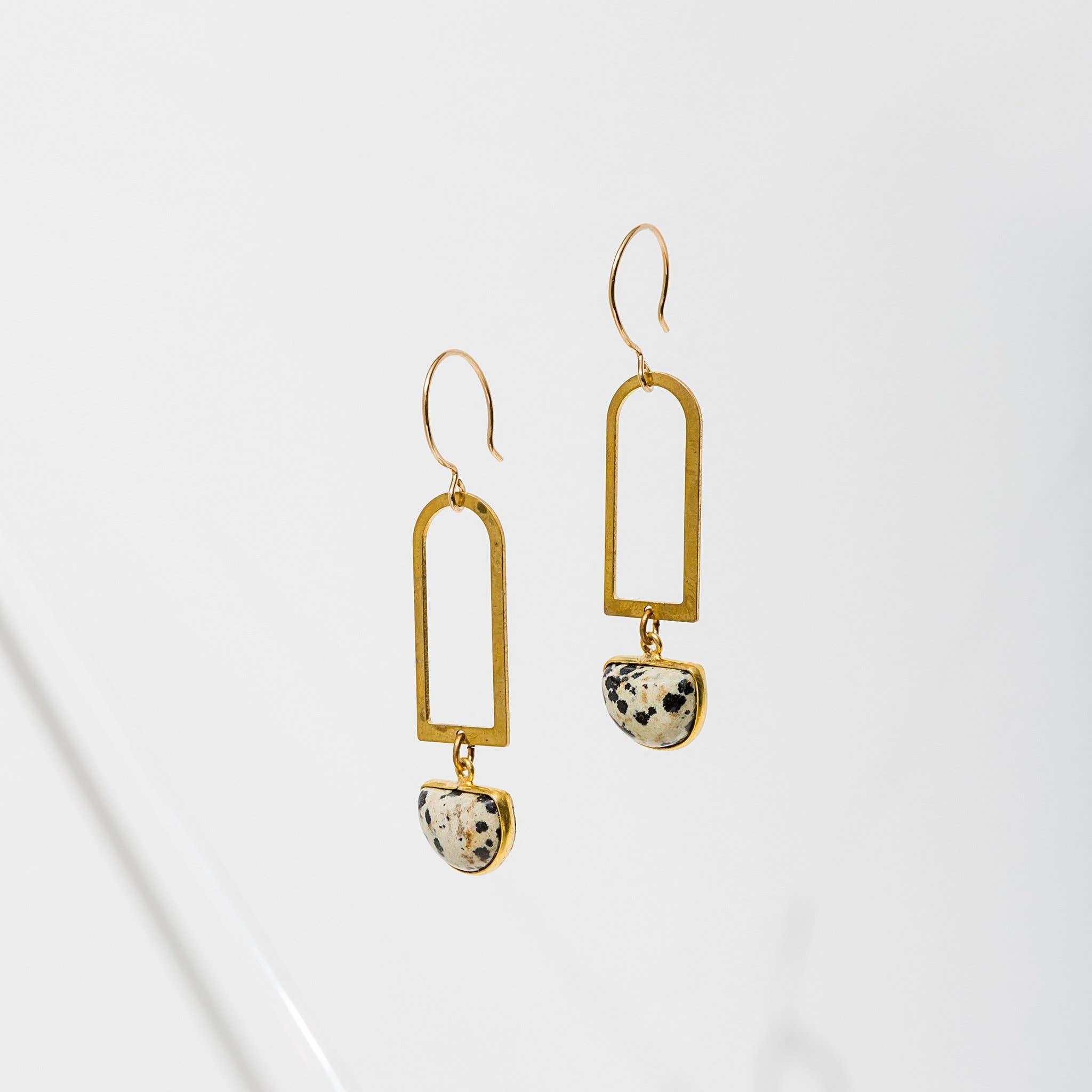 Casablanca Earrings Dalmatian Jasper