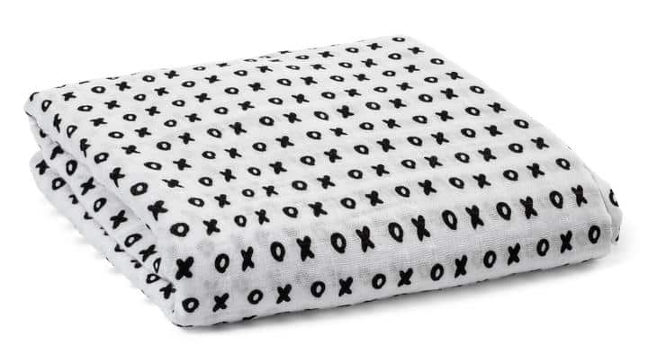 Organic Cotton Muslin Swaddle Blanket – XO