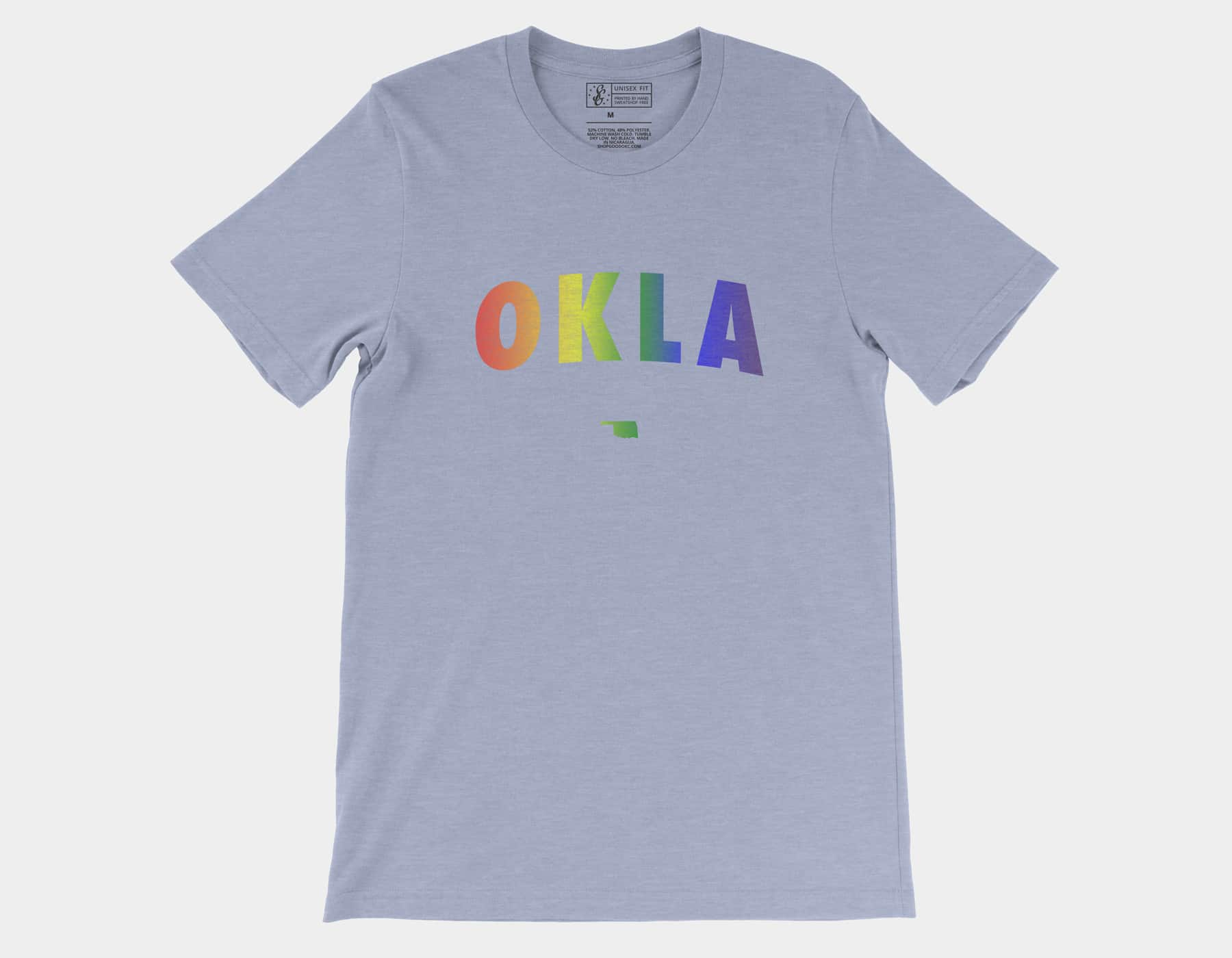 OKLA Pride Tee Heather Blue