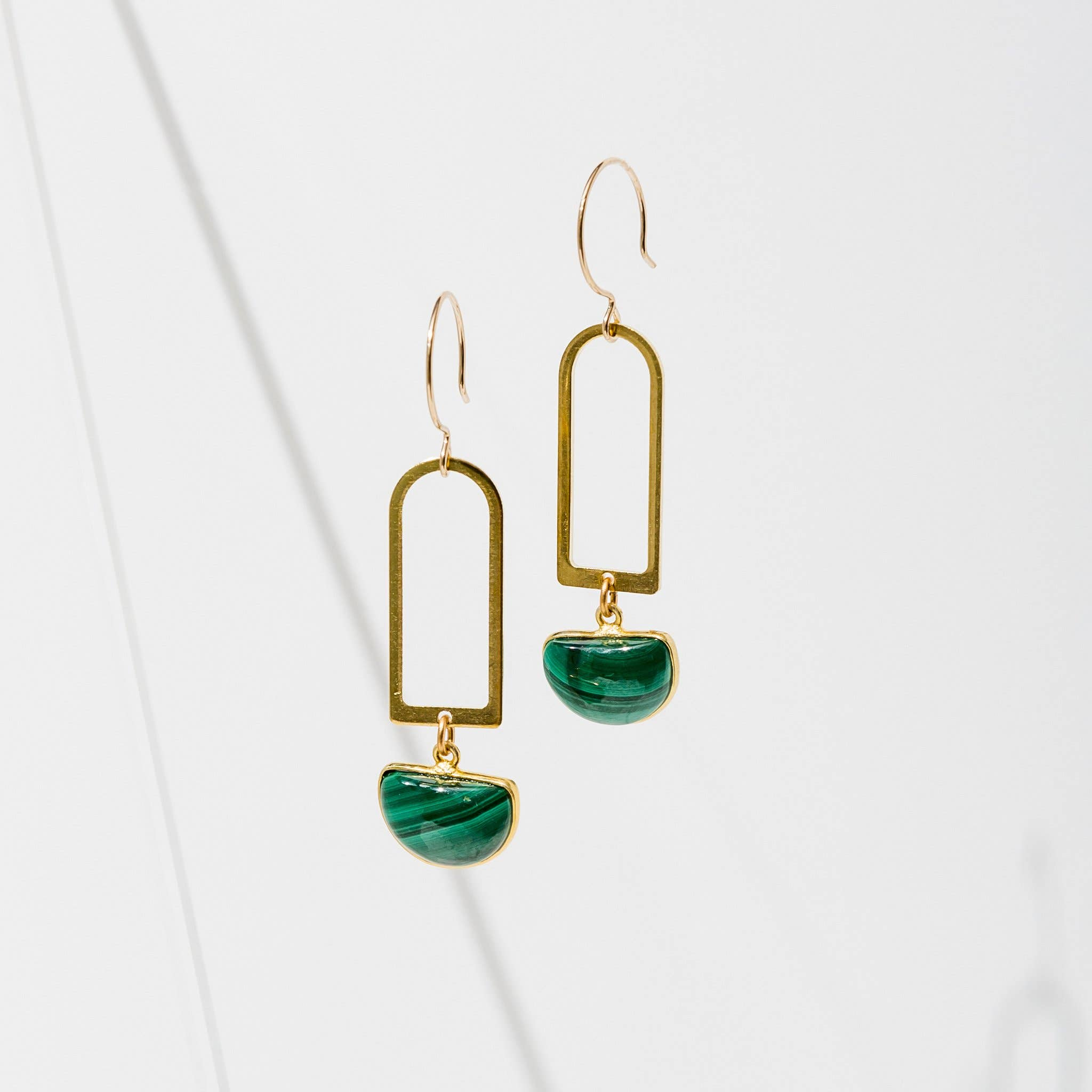 Casablanca Earrings Malachite
