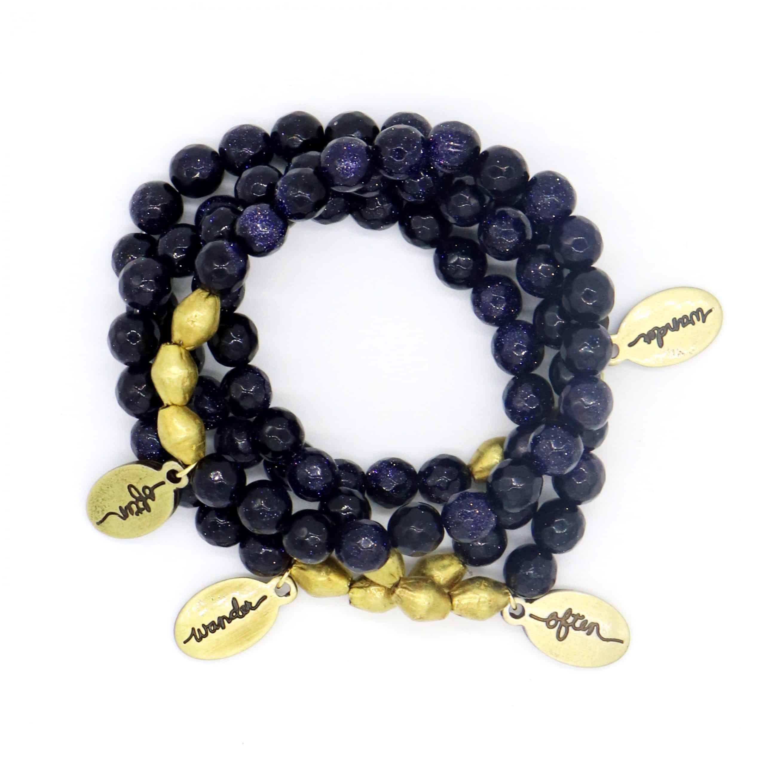 Beaded Bracelet – Blue Sandstone