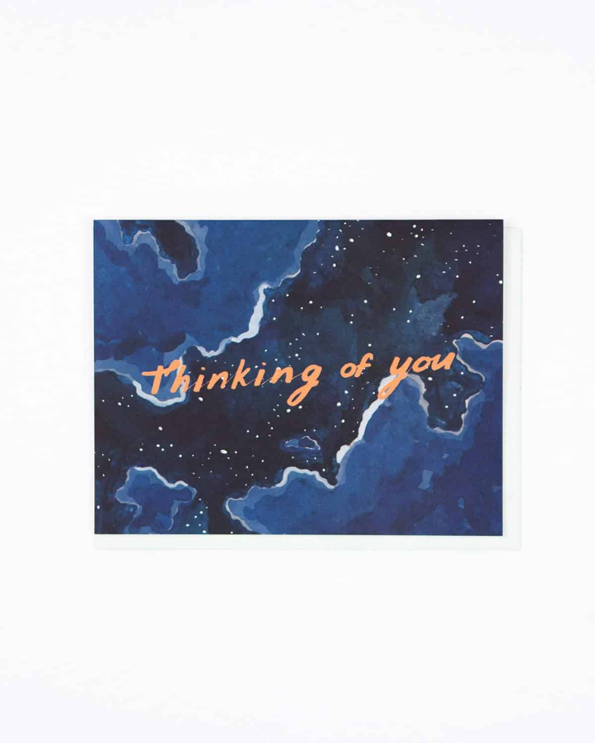 Thinking Of You Night Sky Greeting Card