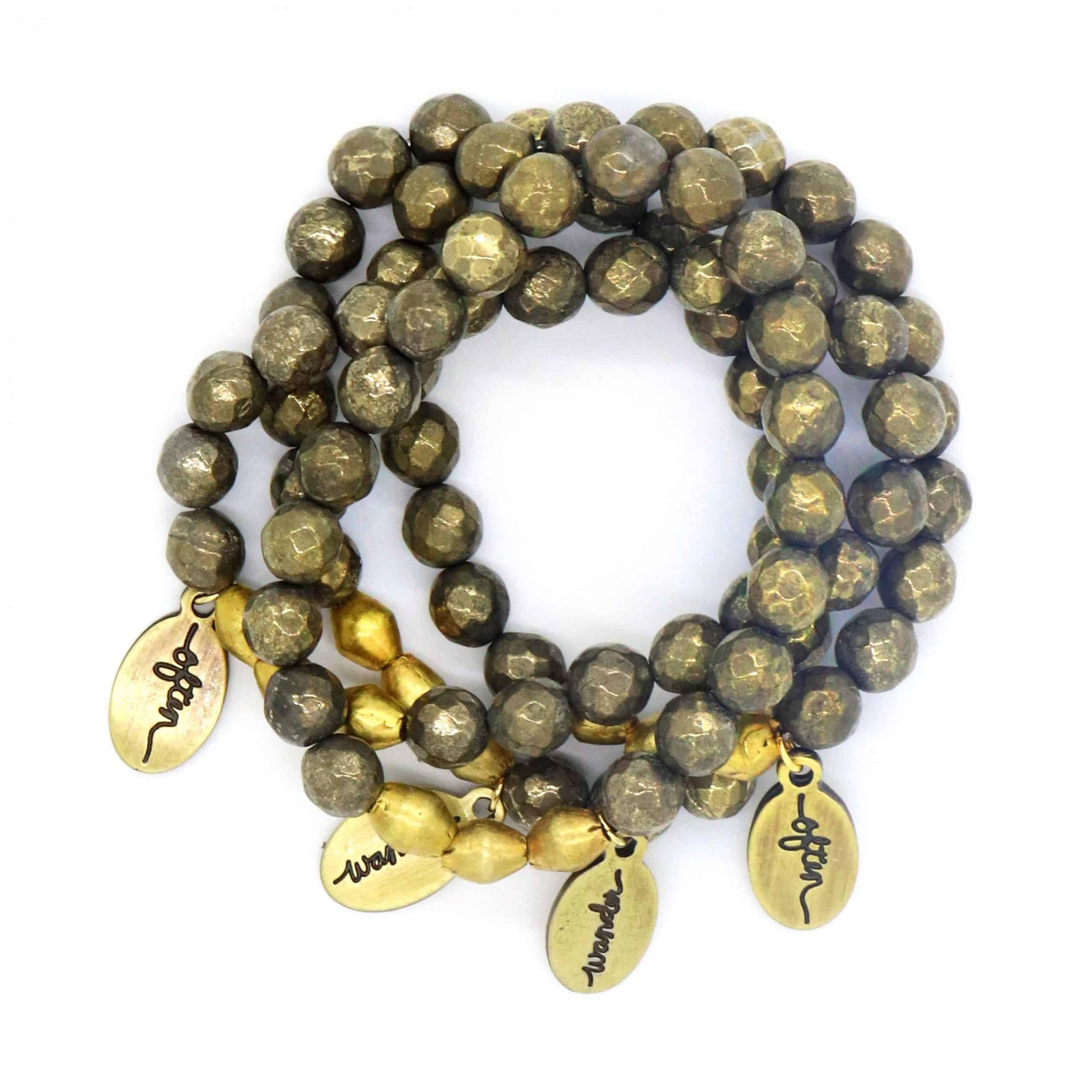 Beaded Bracelet – Pyrite