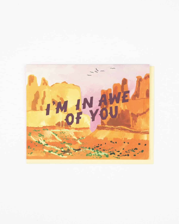 In Awe Of You Greeting Card