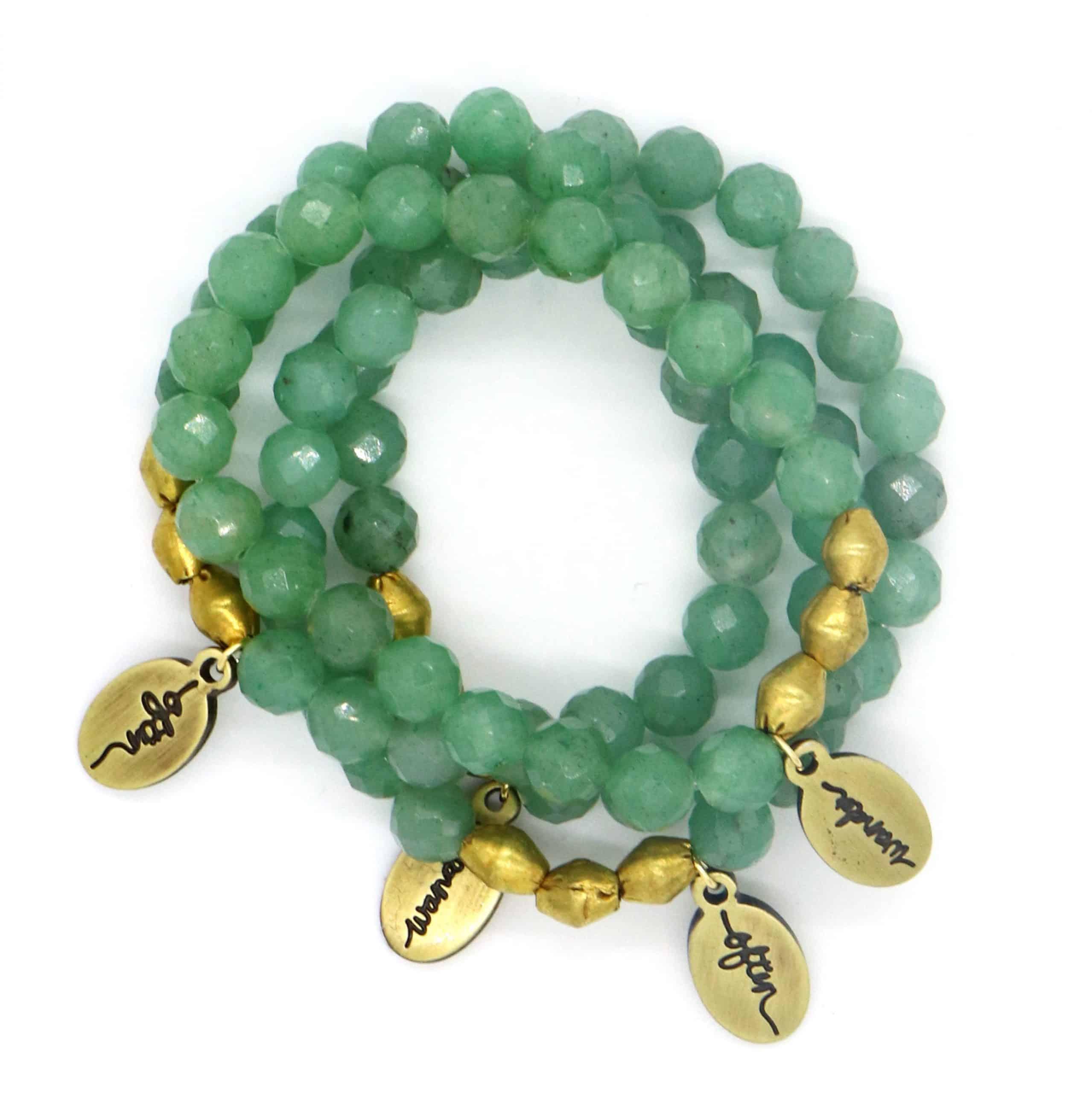 Beaded Bracelet – Green Aventurine