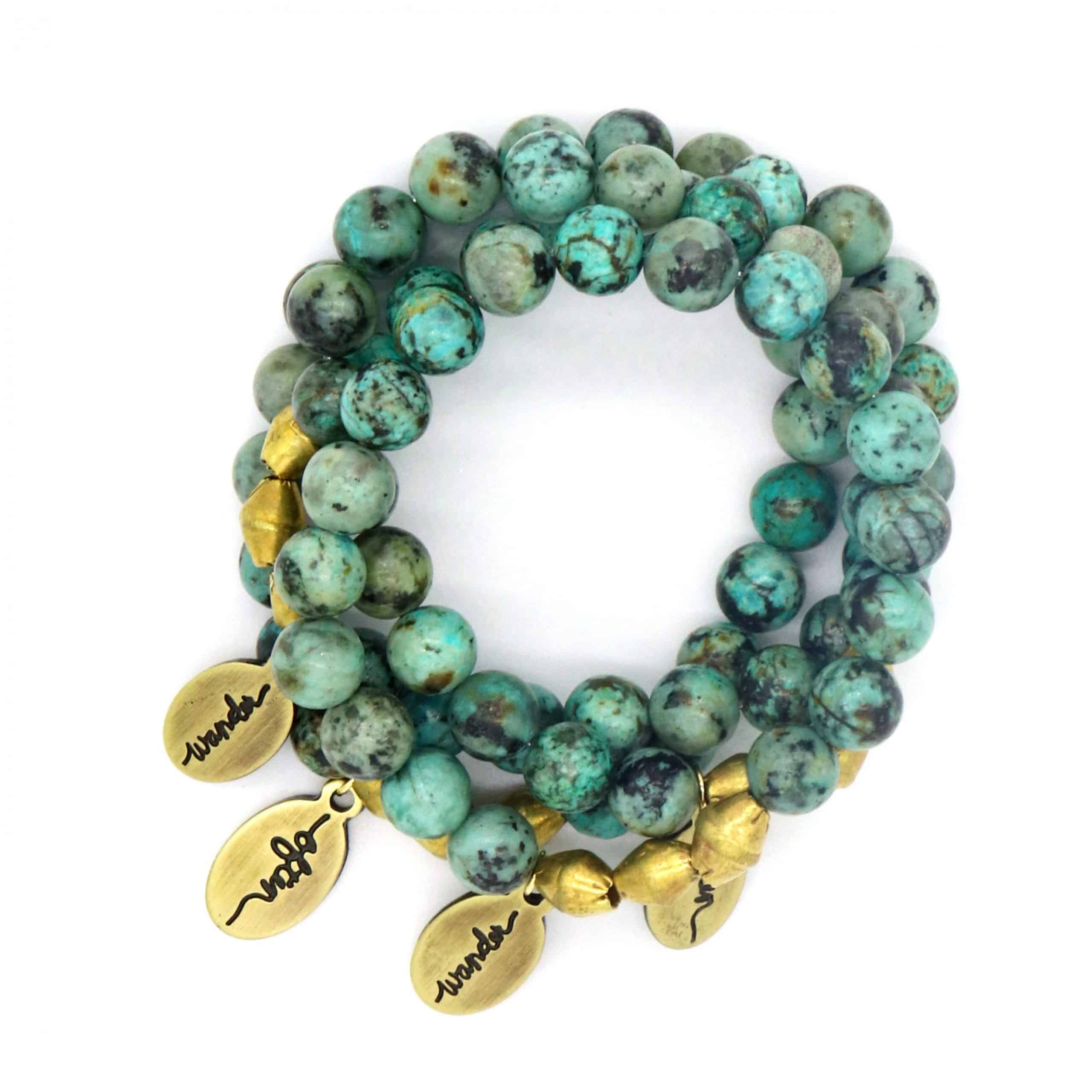 Beaded Bracelet – African Turquoise