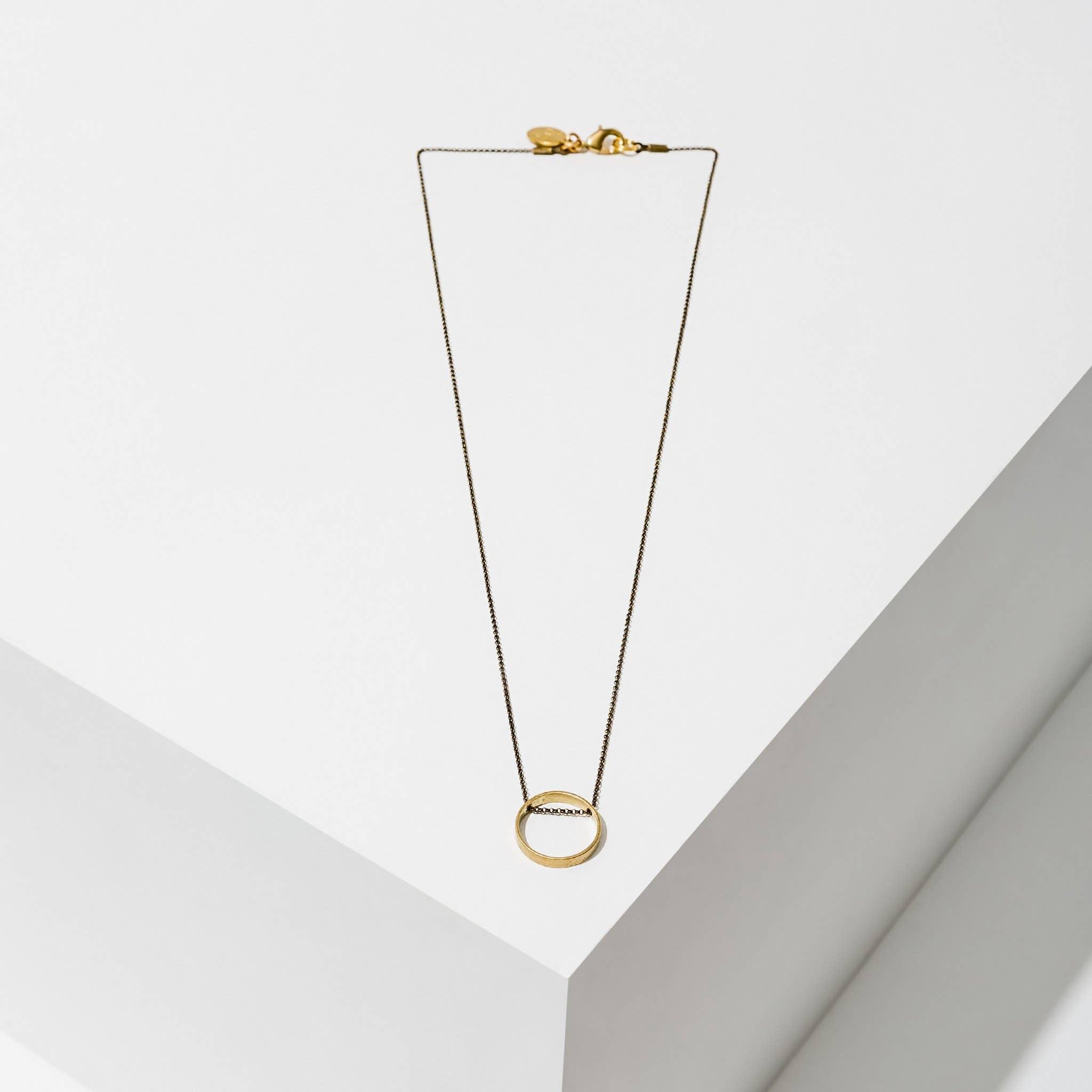 Circle Horizon Necklace Medium