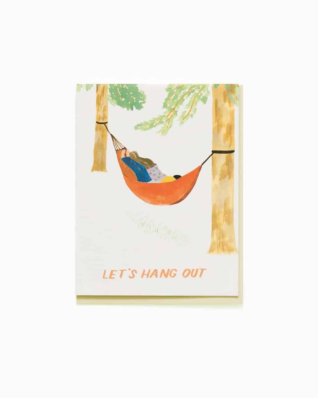 Hammock Hang Out Greeting Card