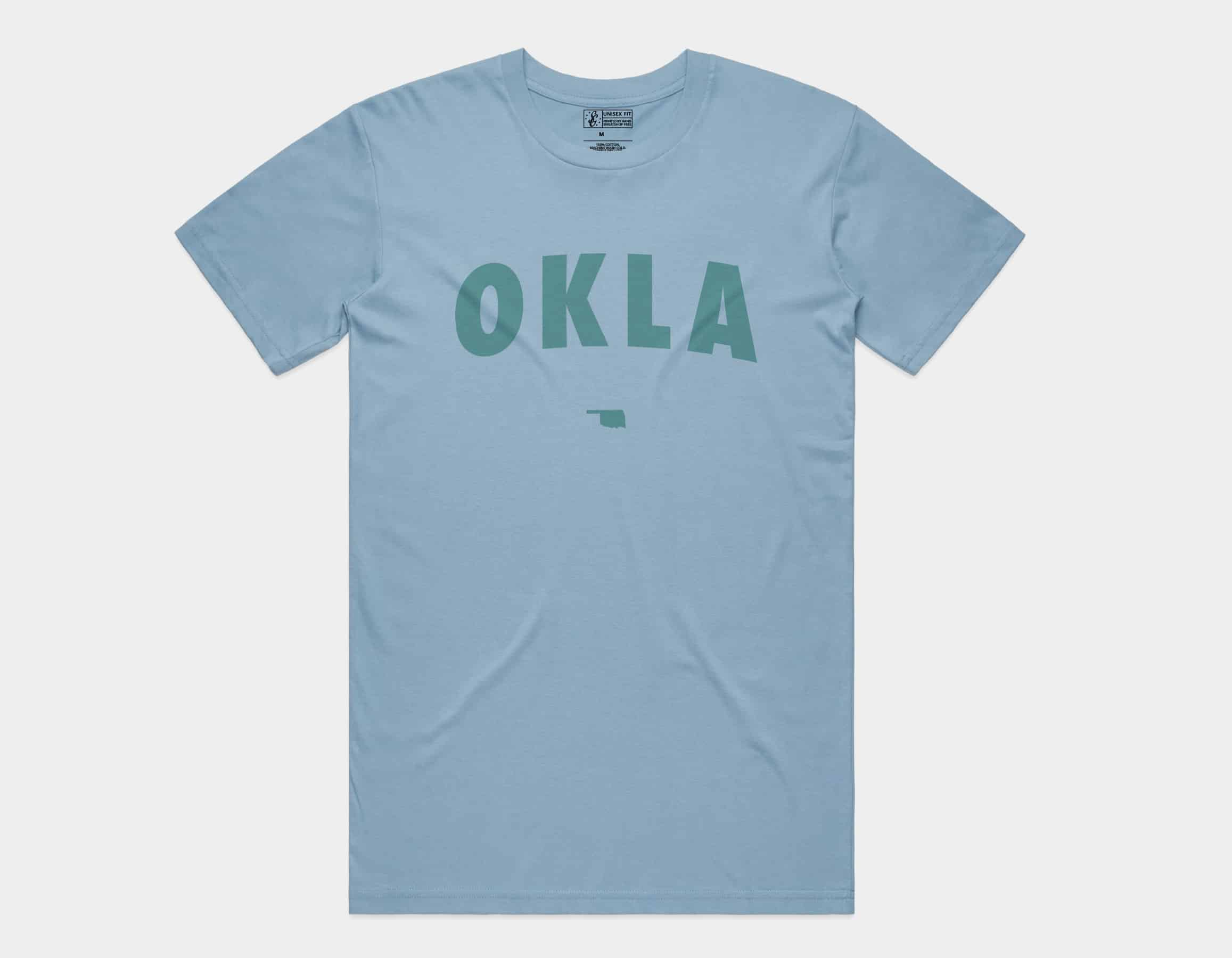 OKLA Tee Sky Blue